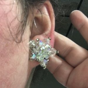 Vintage Jewelry - Vintage Bead & Rhinestone Star Clip-on Earring